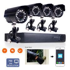 4CH 700TVL HD DVR Surveillance Imperméable Extérieur Caméra de Sécurité CCTV Kit