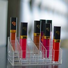 24 Trapezoid Clear Makeup Display Lipstick Stand Case Cosmetic Organizer Case @!