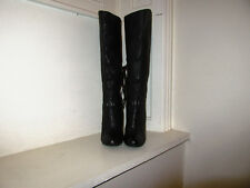 Aldo Black Stiletto Knee High Boots Size 3 / 36