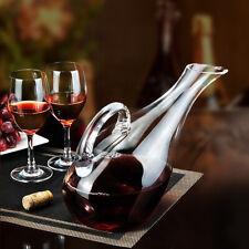 1200ml Exquisite Transparent Crystal Glass Carafe Decanter Liquor Wine Pourer L