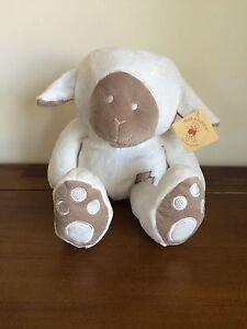 White Sheep/Lamb Baby Rattle Soft Plush Stuffed Toy