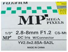 FujiFilm Fujinon YV2.8x2.8SA-SA2L 3 megapixels focal length 2.8-8mm F1.2 CS-Mt