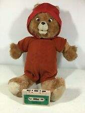 Teddy Ruxpin with Tape and Cap Missing Shirt See Description As Is