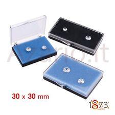 Scatola plastica 30x30x10 mm coperchio contenitore pietre minuteria Box plastic