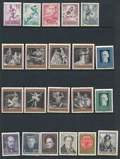 Austria **44 DIFFERENT MNH (1948-1970)**; ISSUES AS SHOWN; CV $25+