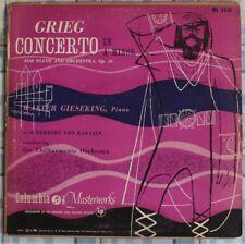 DISCO 33 GIRI - WALTER GIESEKING - GRIEG CONCERTO