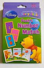 preschool Disney Early Skills Winnie the Pooh Number Match Game with 36 Cards