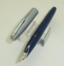 Blue Sheaffer Imperial Fountain Pen, F Nib, Steel Cap
