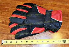 RED Medium Womans Men SKI GLOVES Snowboard Lined Warm Winter Water Repellent NWT