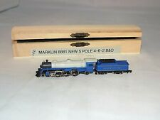 Z Scale Marklin 8881 Pacific 4-6-2 B&O Locomotive & Tender New 5 Pole Motor LEDs
