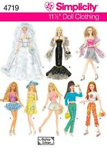"""Simplicity SEWING PATTERN 4719 Clothes For 11.5"""" Fashion Dolls Inc Wedding Dress"""