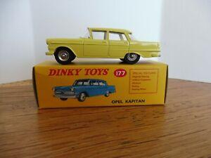 Dinky Toys Atlas UK Opel Kapitän jaune réf.177 neuve en boîte