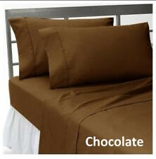 Gorgeous Fitted Sheet+2 Pillow Case Egyptian Cotton Solid Colors Full XL Size