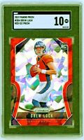 DREW LOCK 2019 Panini Prizm RED CRACKED ICE Rookie Card RC Broncos SGC 10 Gem Mt