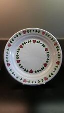 WILLIAMS SONOMA PORTUGAL HAND THROWN RED CLAY PLATE HEARTS DESIGN