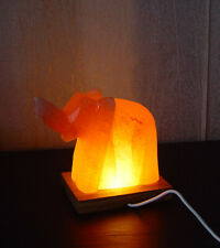 Orange Salt Lamp Animal Elephant USB Cable Led Light Therapeutic Himalayan AAA