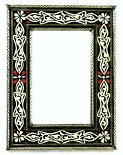 Moroccan Wall Mirror Authentic Home Decor Handmade Bone Inlay Black and White