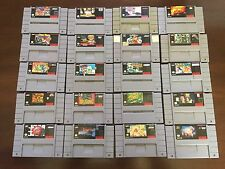 Super Nintendo SNES 20 Game Lot Super Smash TV, Outlander, NBA Jam, Etc