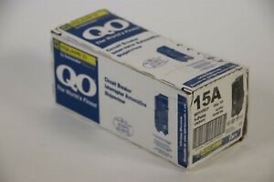 Box of 10 Square D QO115 1 Single Pole 15A 120/240V Circuit Breakers QO115CP