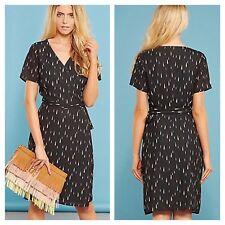 Sugarhill Boutique Size 12 Aura Black Raindrop Print Wrap DRESS £65 Party Summer