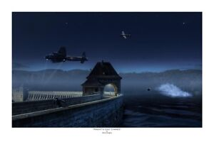 "WWII WW2 RAF RAAF RCAF Dambuster Lancaster Aviation Art Photo Print - 12"" X 18"""