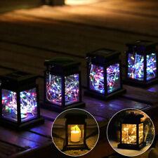 1-4X Solar Lantern Hanging Light Led Yard outdoor Patio Garden Lamp Waterproof