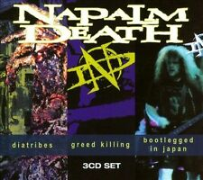 NAPALM DEATH - DIATRIBES/GREED KILLING/BOOTLEGGED IN JAPAN USED - VERY GOOD CD