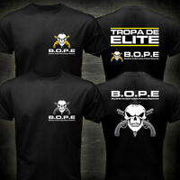 NEW BOPE Tropa De Elite Brazil Special Elite Forces Military Black T-shirt Tee