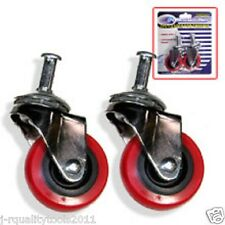 "2 PIECES 2"" INCH REPLACEMENT SWIVEL WHEEL CASTER CASTOR FOR MECHANIC'S CREEPER"
