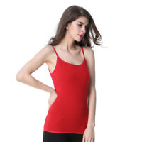 New Womens Vest Ladies Plus Size Strap Tank Top Plain Cami Stretch Long Cotton