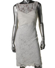 NEW Womens Lauren Ralph Lauren White Lace Pintuck Party Cocktail Dress AU16