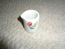 Hotel Restaurant ware single creamer Shenango spring flowers built in spout thic