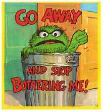 """Oscar the Grouch Go Away! Iron On Transfer 5"""" x 5.5"""" for LIGHT Colored Fabric"""