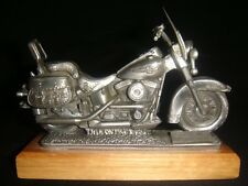 NEW IN BOX COLLECTIBLE HARLEY-DAVIDSON  PEWTER TRAVELING MUSEUM REPLICA  FLSTC -