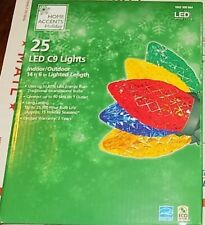 New Home Accents Holiday 25 Led C9 Christmas Party String Lights Multi-Color