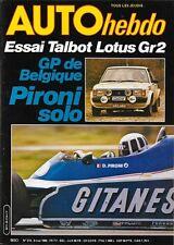 AUTO HEBDO 214 . 8 mai 1980 . Essai Talbot Lotus groupe 2 .