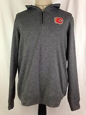 Calgary Flames Mens Pullover Sweatshirt L Size Hockey Reebok Face Off NHL New