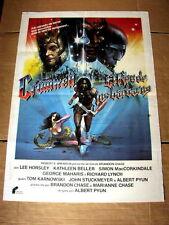 SWORD AND THE SORCERER Orig PRINCESS Movie Poster LEE HORSLEY KATHLEEN BELLER