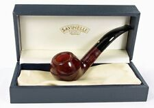 SAVINELLI PUNTO ORO 673 BENT RHODESIAN PIPE * NEW in BOX * MIN. 3 YEARS DRYING