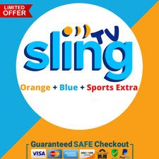 SlingTv Orange + Blue + Sports Extra 💻 2 Year Warranty 😲 Super Fast Delivery