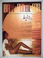 Bain de Soleil Sun Tan Lotion PRINT AD - 1980 ~~ St. Tropez tan