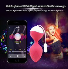 Female Invisible Smart Phone APP Control Shrink Vaginal Ball Vibrator in Panties