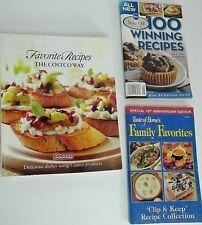 3 paperback cookbooks The Costco Way '07 Taste of Home 10th Anniversary Pilsbury