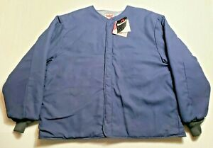 Bulwark Insulated Nomex III A Jacket Mens 3XL Blue XXXL New with Tags Flameproof