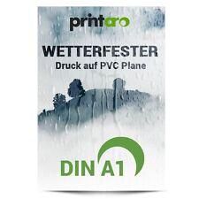 Digitaldruck auf 2 x DIN A1 wetterfester PVC Plane f. Klapprahmen Kundenstopper