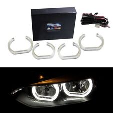 White DTM Style Square LED Angel Eye Kit For BMW F30 3 Series Halogen Headlights