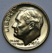 1968 D Roosevelt Dimel in Choice BU Condition US Silver Coin