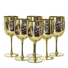 Moet & Chandon Gold Ice Imperial Acrylic Champagne Glasses - Set of 6
