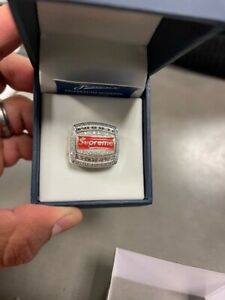 Supreme Jostens World Famous Championship Ring -Silver Color-Size 8.5 - New