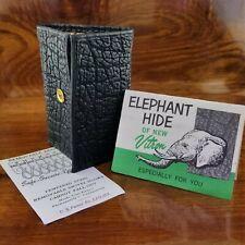 NEW Vintage Vitronic Elephant Hide of Vitron Leather Like Black Key Wallet RARE